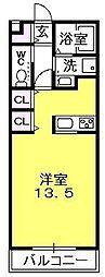 エス・プラス夙川[1階]の間取り