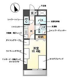 M-stage Aoi[9階]の間取り