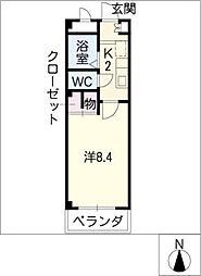 ガーデンハウス元八事[2階]の間取り