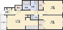 爽・大井[1階]の間取り
