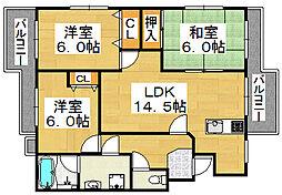 メゾンアルルN[2階]の間取り