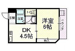 エバンジェル片井[4階]の間取り
