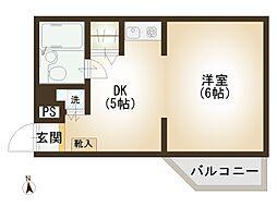 埼玉県所沢市小手指町3丁目の賃貸アパートの間取り