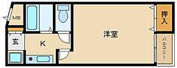 大阪府富田林市喜志町3丁目の賃貸マンションの間取り