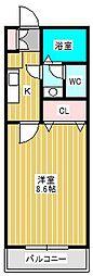 パティオスクエア新松戸A棟[1階]の間取り