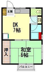 HANAマンション[1階]の間取り