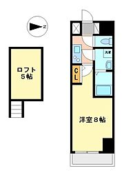 エステムコート名古屋・栄デュアルレジェンド[2階]の間取り