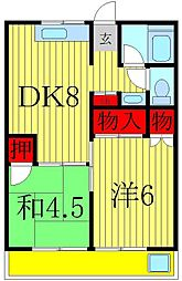 若藤マンション[4階]の間取り