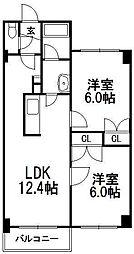 北海道札幌市西区発寒十一条4丁目の賃貸マンションの間取り