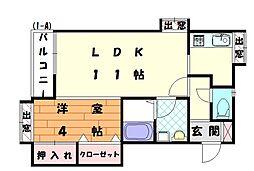シャングリラ2番館[1階]の間取り