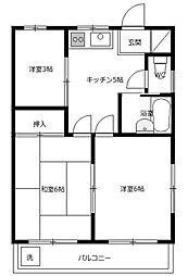 リバーサイドホーム[3階]の間取り