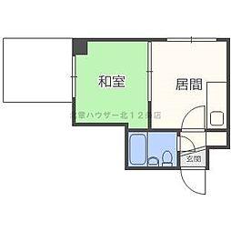 北海道札幌市北区北二十四条西4丁目の賃貸マンションの間取り