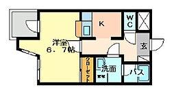 福岡県北九州市戸畑区新池2の賃貸マンションの間取り
