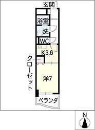 グランシャリオ名駅南[10階]の間取り