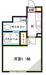JR中央本線 荻窪駅 徒歩10分の賃貸アパート 1階1Kの間取り