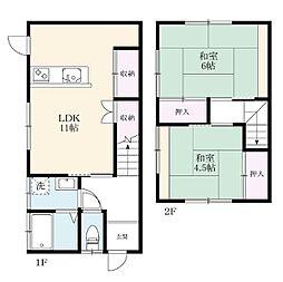 中小路アパート[1階部分2号室]の間取り