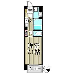 スクエアーズ鎌倉[407号室]の間取り