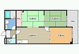 パシフィック天美 第20ビル[4階]の間取り