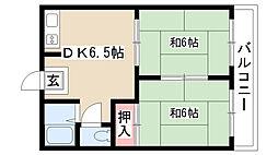 愛知県名古屋市南区平子1丁目の賃貸アパートの間取り