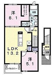 フェリオA[2階]の間取り
