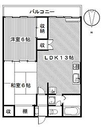マンション関口[1階]の間取り