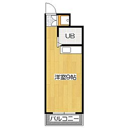 レオ松本[4階]の間取り