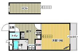 レオパレス桜井壱番館[1階]の間取り