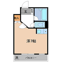 コーポ郷[402号室]の間取り