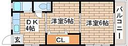 兵庫県明石市西新町3丁目の賃貸マンションの間取り