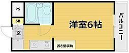 ボーン宇治Ⅱ号館[2階]の間取り