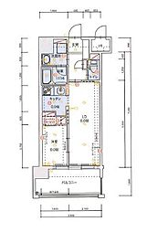 ALFACIO SOUTHE FONTE(1101)[11階]の間取り