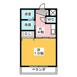 メゾンタットル[3階]の間取り