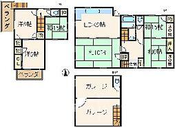 [一戸建] 広島県広島市安芸区矢野東7丁目 の賃貸【/】の間取り