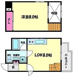 SONIX2015(ソニックス2015) 8階1LDKの間取り