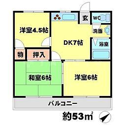 リバーサイドマンションレオ[2階]の間取り