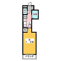 ラポール赤坂[1階]の間取り