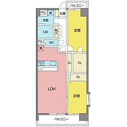 アヴェニールN棟[3階]の間取り