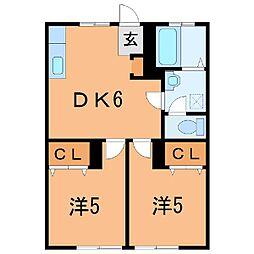 0386コーポカトウ[1-C号室]の間取り