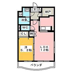ラ・ソワール[1階]の間取り