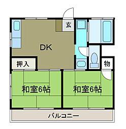 第二昇山荘[2階]の間取り