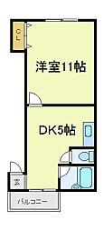 ディモール天王寺[2階]の間取り