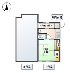 林荘[2階]の間取り