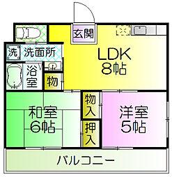 ビーボ21[3階]の間取り