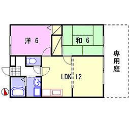 ルミエール飾磨II[B105号室]の間取り
