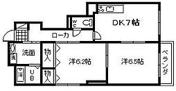 コーポ阪和[202号室]の間取り
