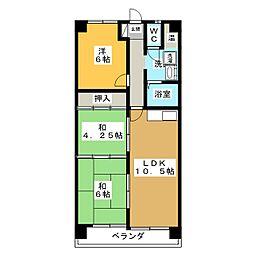 ニューコーポ植田I[3階]の間取り
