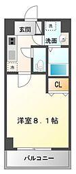 プレサンスOSAKA江坂[5階]の間取り