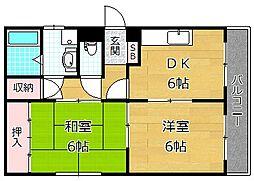 サンコーポ寿[3階]の間取り