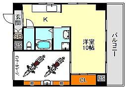 福田ハウス[1階]の間取り