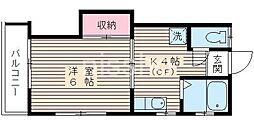 730−コーポ光[201号室]の間取り